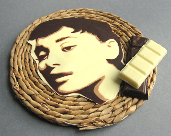 audrey hepburn chocolate painting decoration