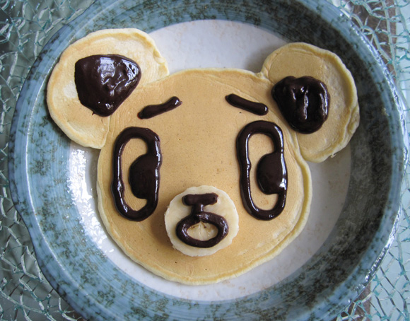 cute breakfast idea pancake bear